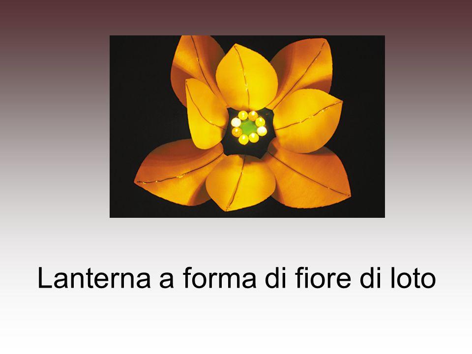 Lanterna a forma di fiore di loto