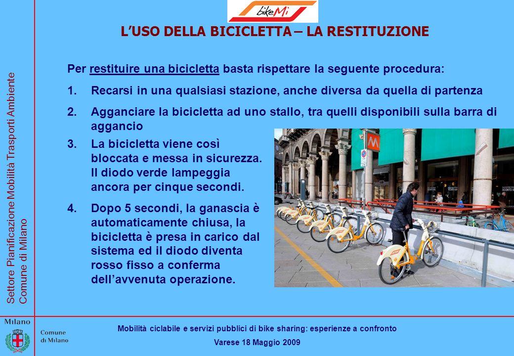 L'USO DELLA BICICLETTA – LA RESTITUZIONE
