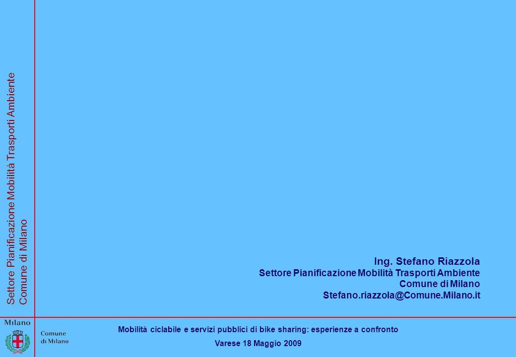 Ing. Stefano Riazzola Settore Pianificazione Mobilità Trasporti Ambiente.