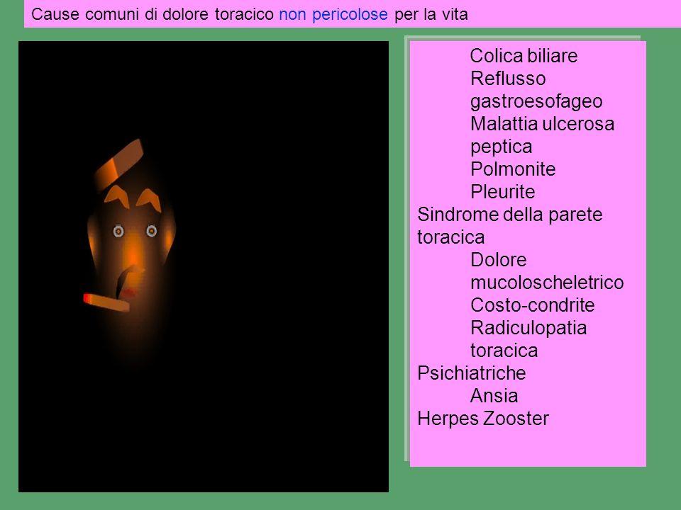 Reflusso gastroesofageo Malattia ulcerosa peptica Polmonite Pleurite