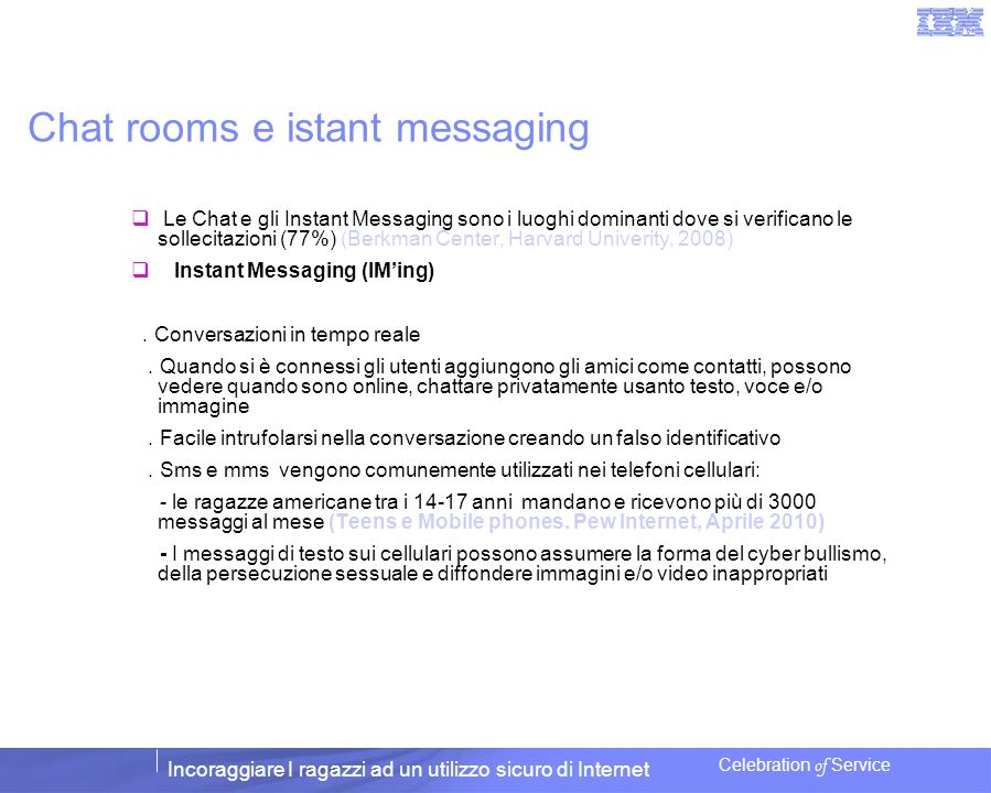 Chat rooms e istant messaging