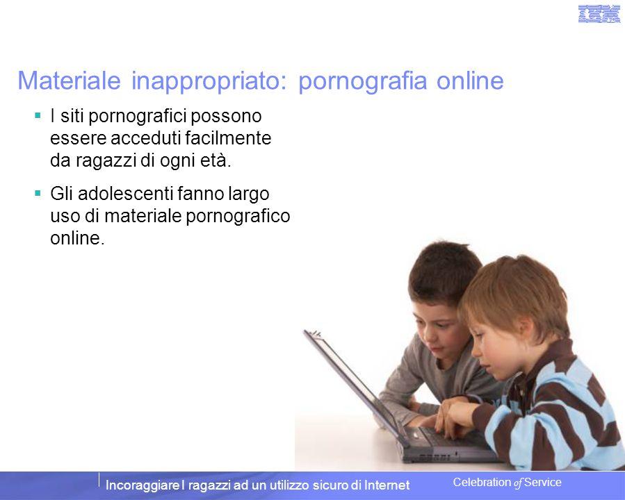 Materiale inappropriato: pornografia online