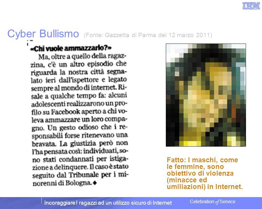 Cyber Bullismo (Fonte: Gazzetta di Parma del 12 marzo 2011)