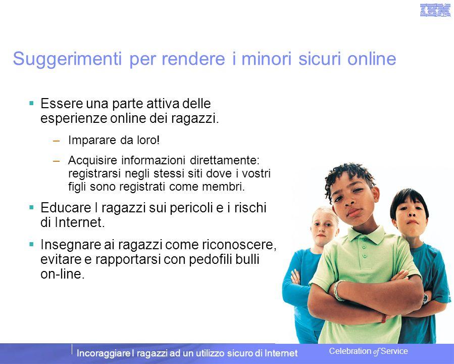 Suggerimenti per rendere i minori sicuri online