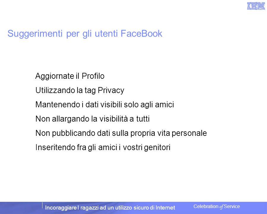 Suggerimenti per gli utenti FaceBook