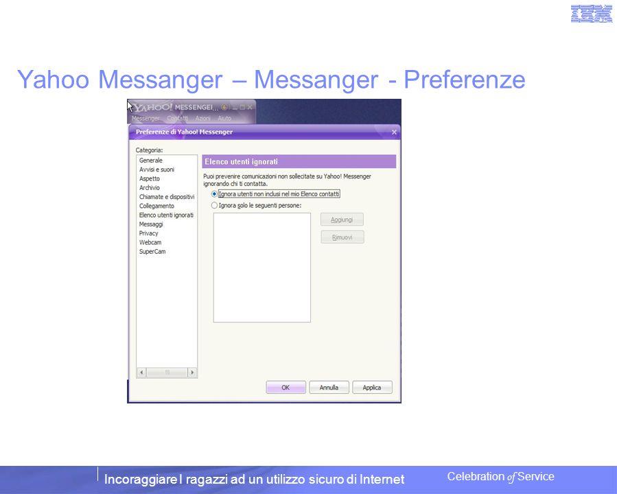 Yahoo Messanger – Messanger - Preferenze