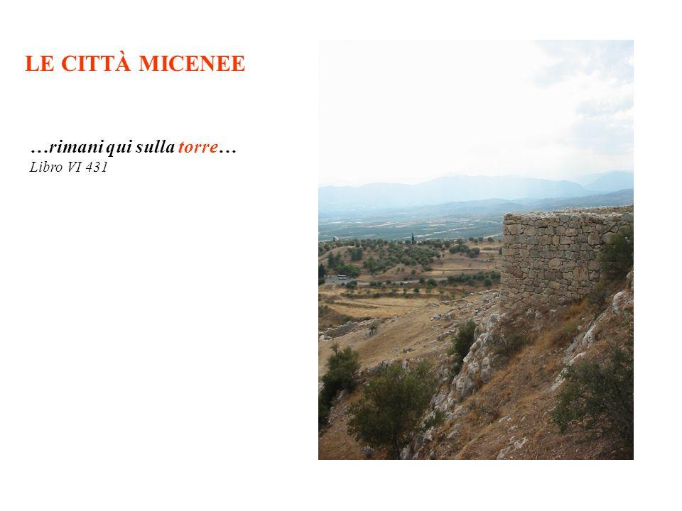 LE CITTÀ MICENEE …rimani qui sulla torre… Libro VI 431