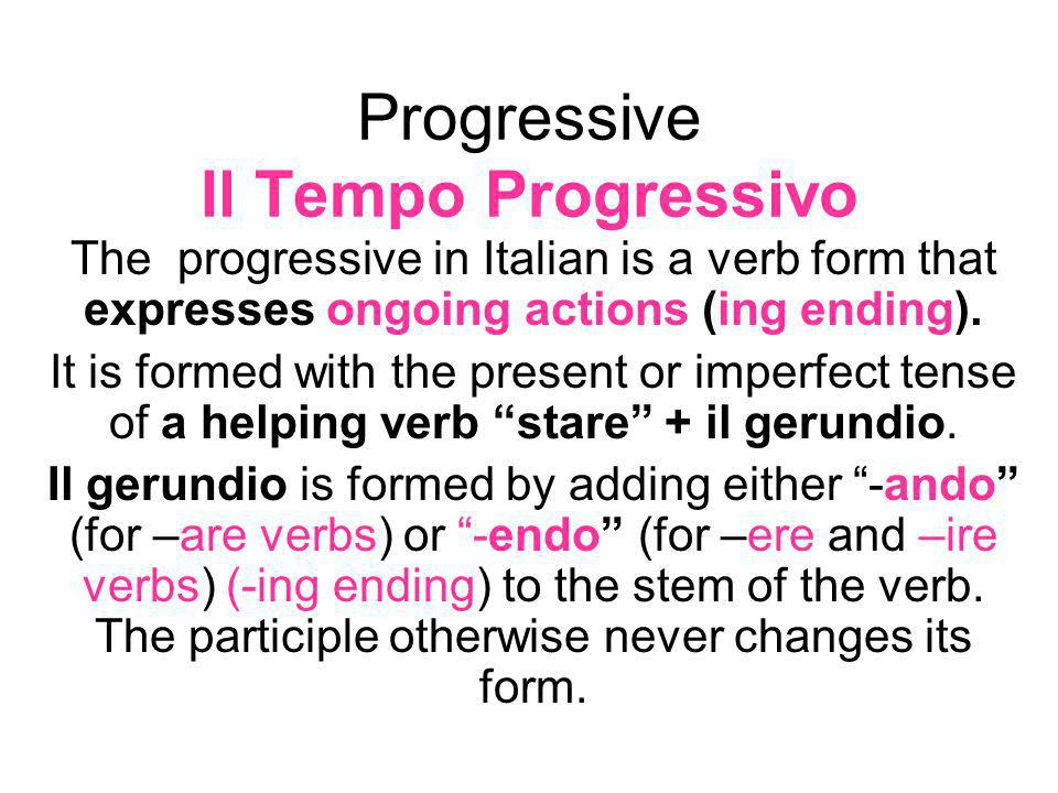 Progressive Il Tempo Progressivo