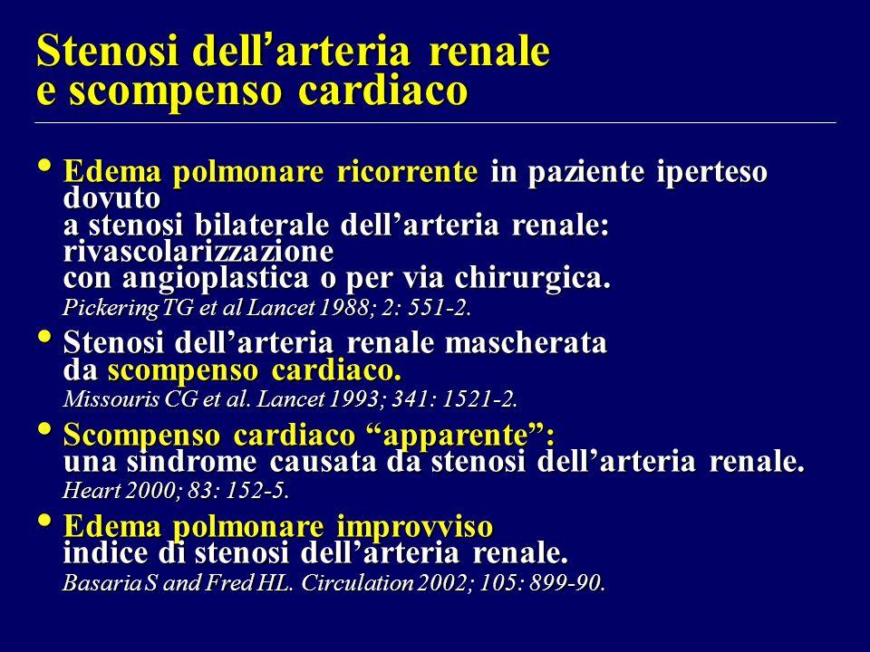 Stenosi dell'arteria renale e scompenso cardiaco