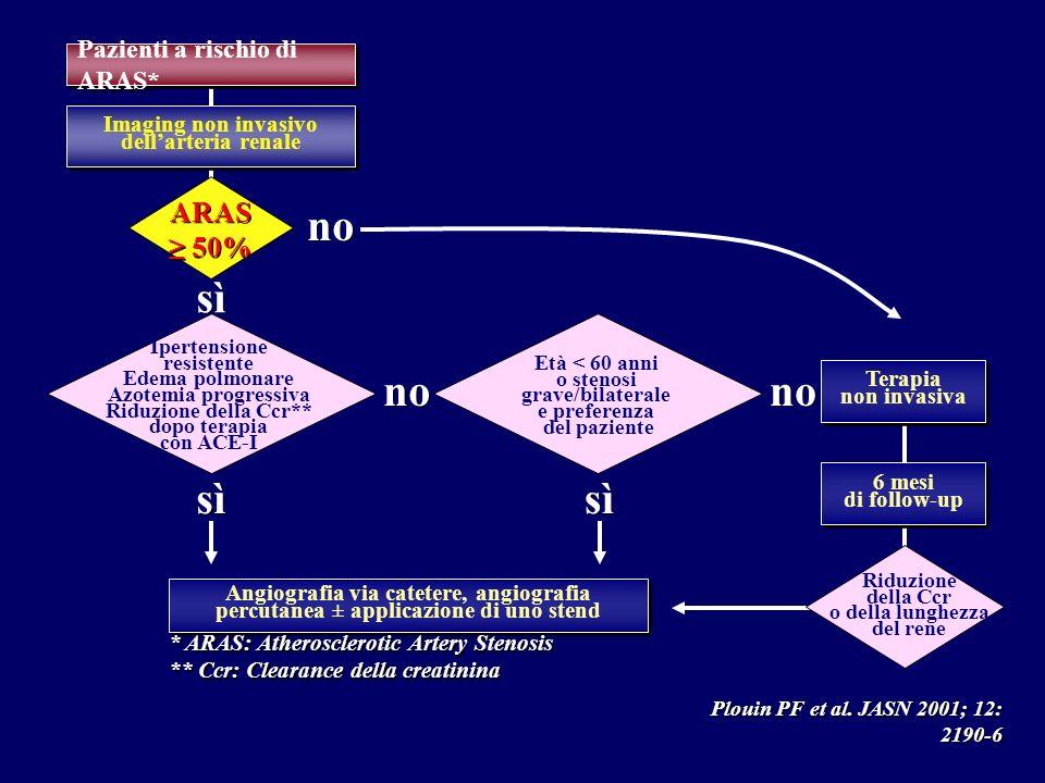 Imaging non invasivo dell'arteria renale