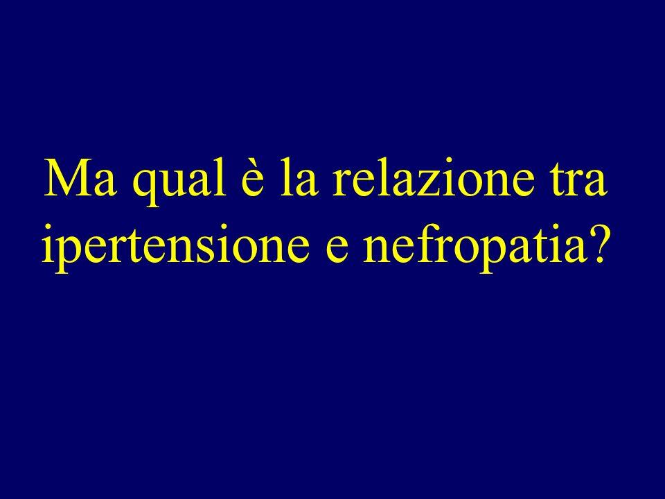 Ma qual è la relazione tra ipertensione e nefropatia