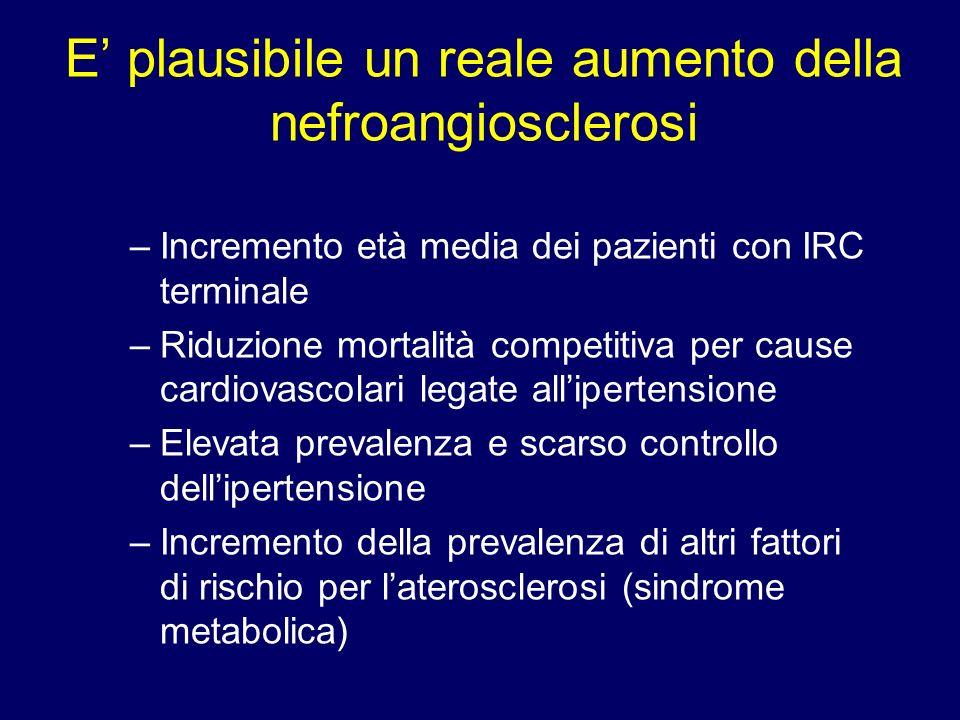 E' plausibile un reale aumento della nefroangiosclerosi