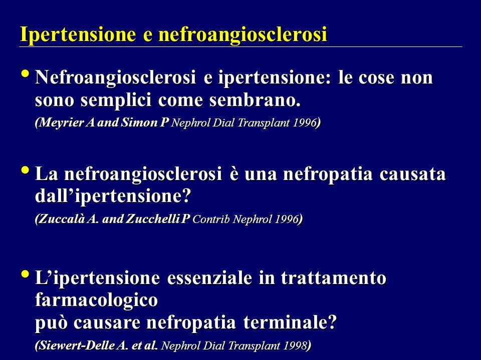 Ipertensione e nefroangiosclerosi