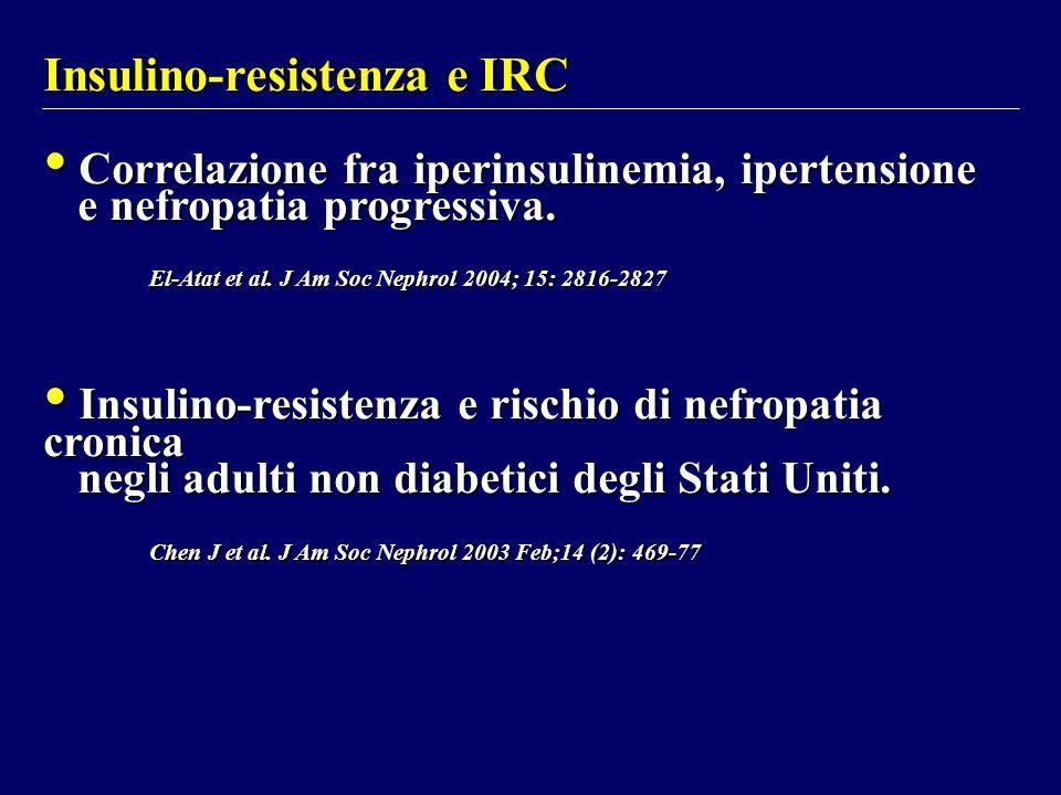 Insulino-resistenza e IRC