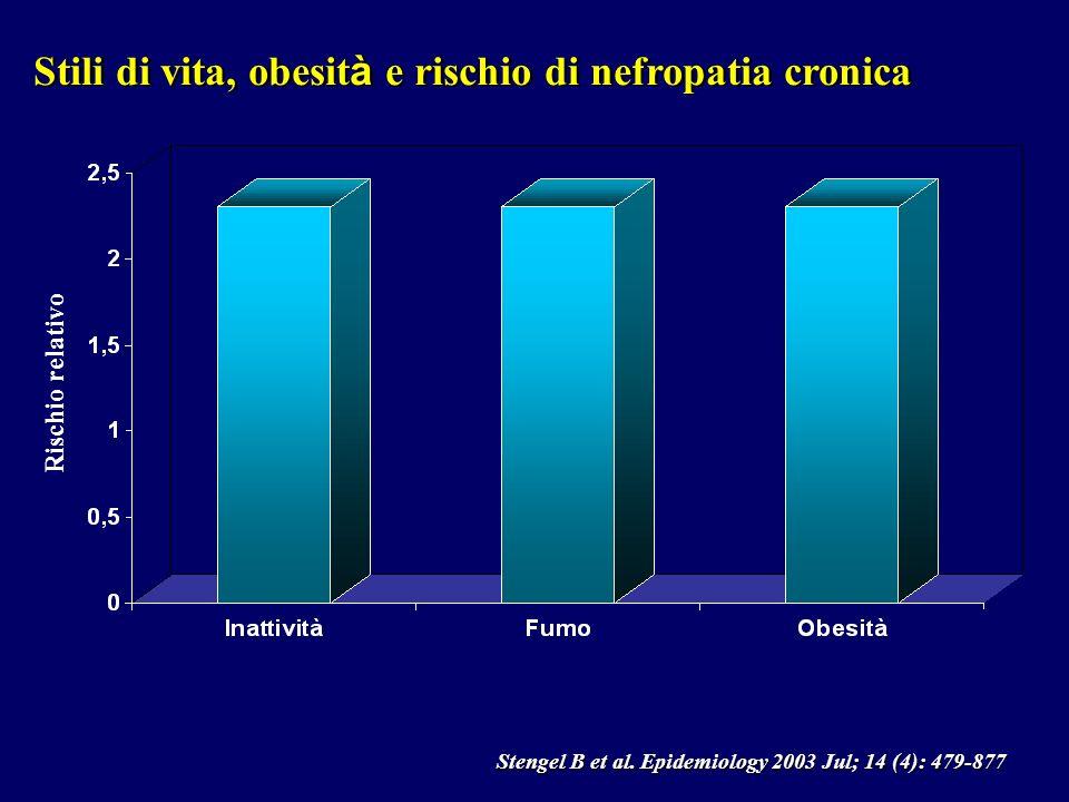Stili di vita, obesità e rischio di nefropatia cronica