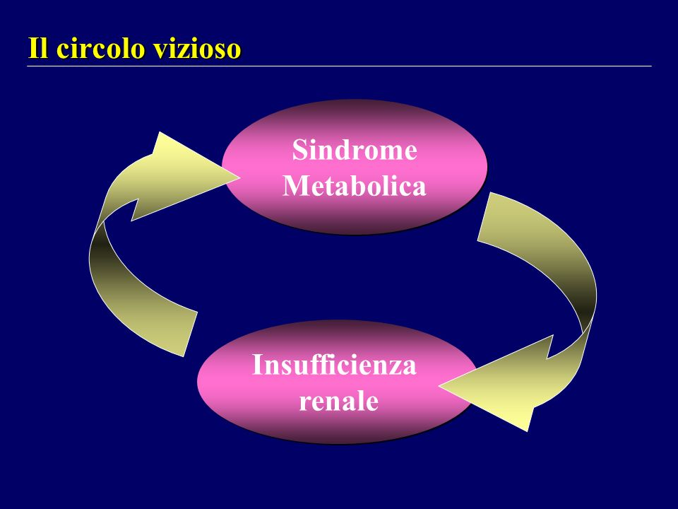Il circolo vizioso Sindrome Metabolica Insufficienza renale
