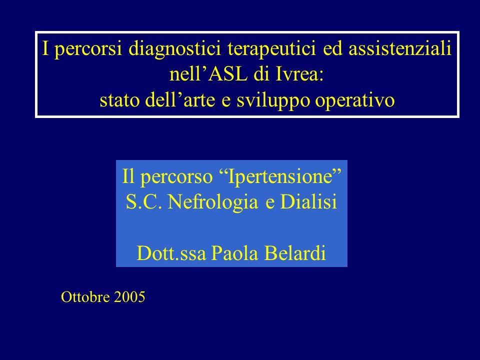 I percorsi diagnostici terapeutici ed assistenziali nell'ASL di Ivrea: