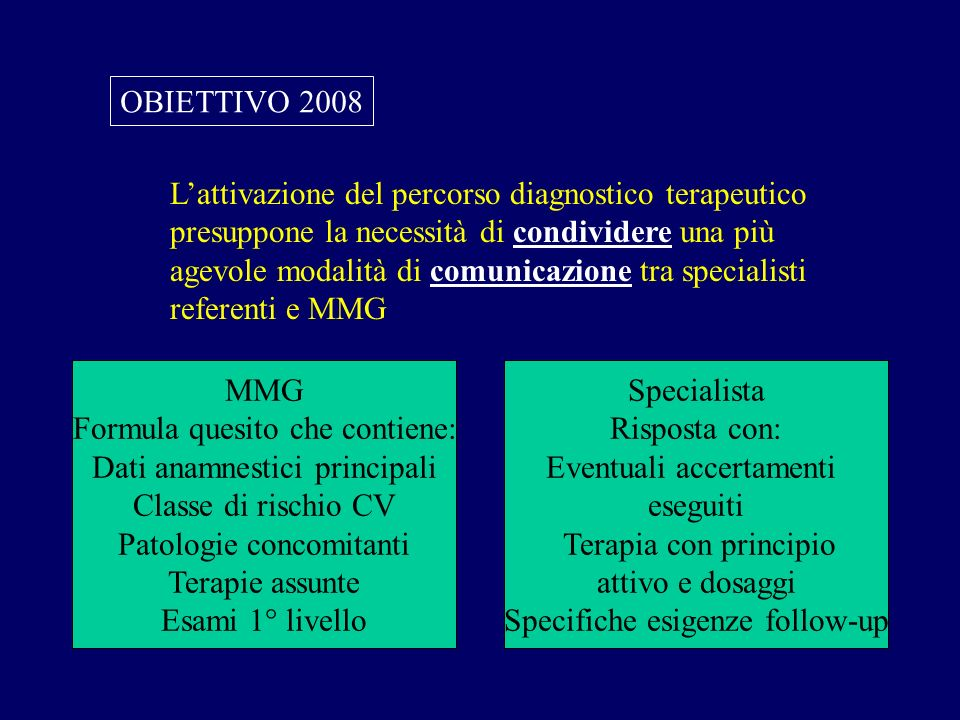 L'attivazione del percorso diagnostico terapeutico
