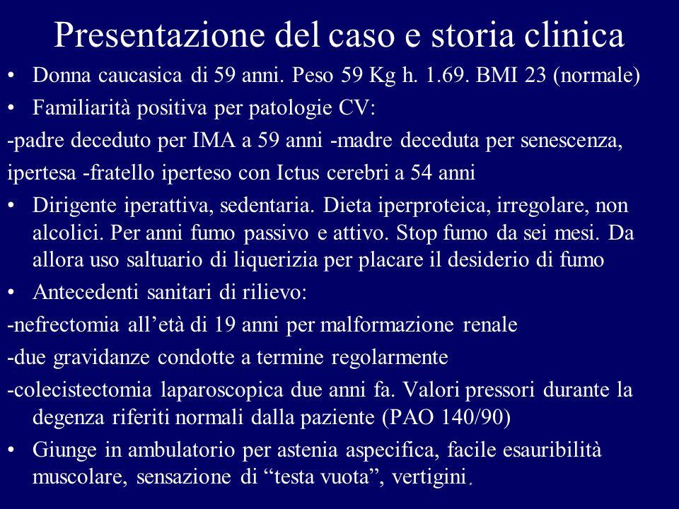 Presentazione del caso e storia clinica