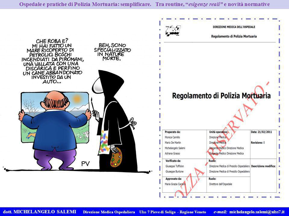 Ospedale e pratiche di Polizia Mortuaria: semplificare