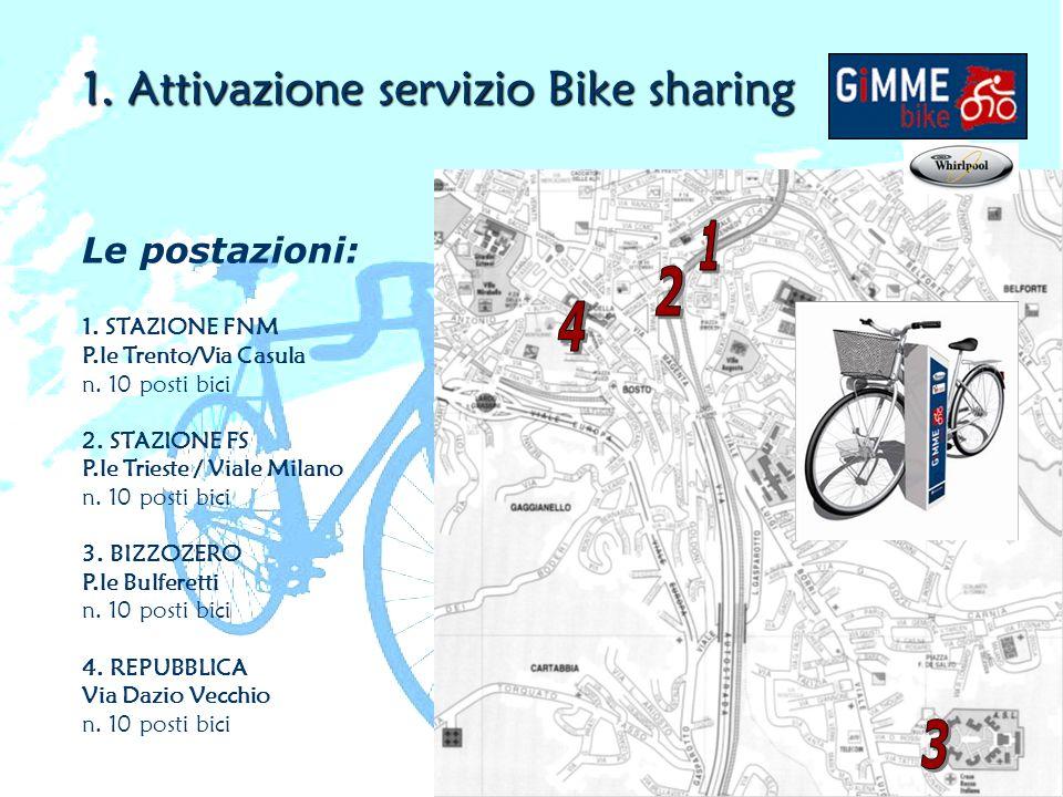 Attivazione servizio Bike sharing