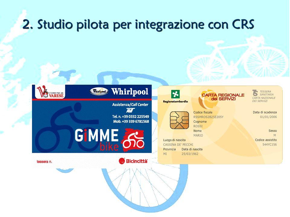 2. Studio pilota per integrazione con CRS