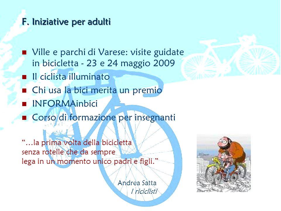 F. Iniziative per adulti