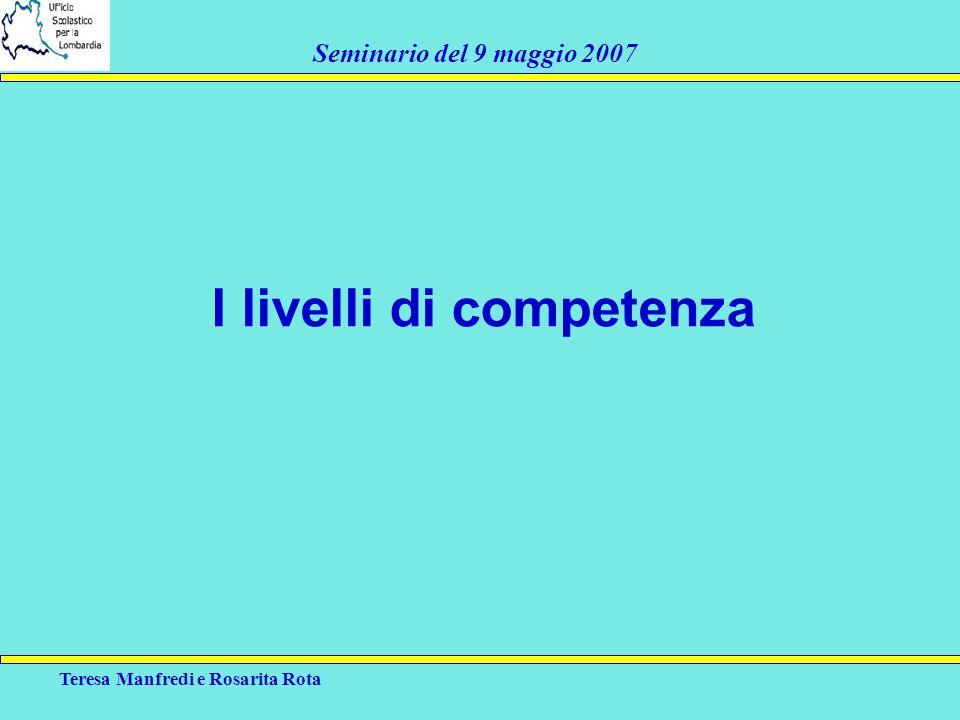 I livelli di competenza