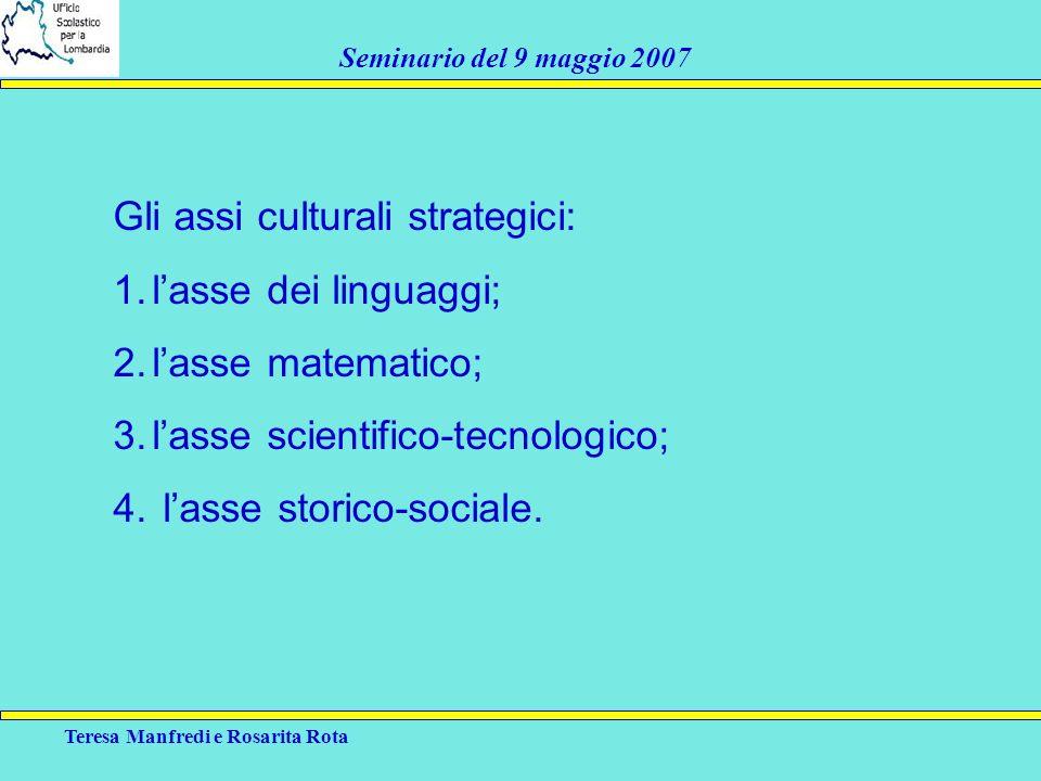 Gli assi culturali strategici: