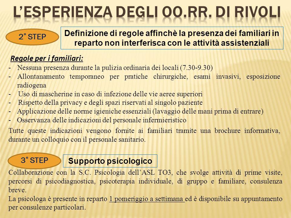 L'ESPERIENZA DEGLI OO.RR. DI RIVOLI