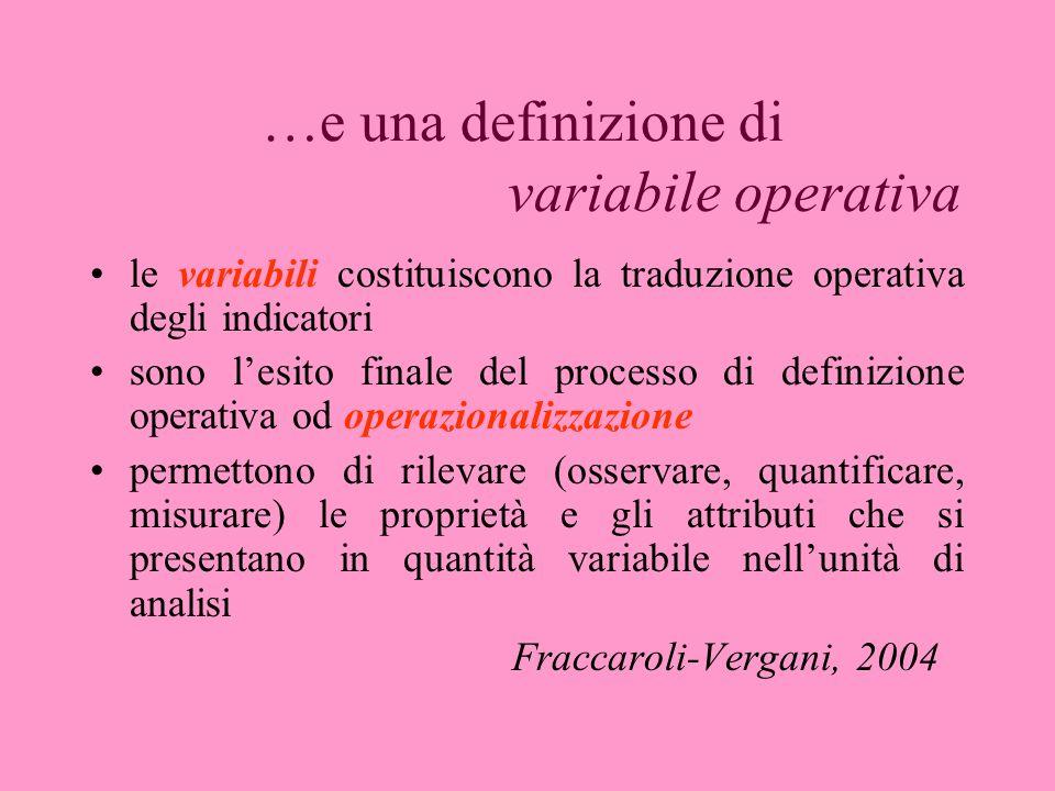 …e una definizione di variabile operativa