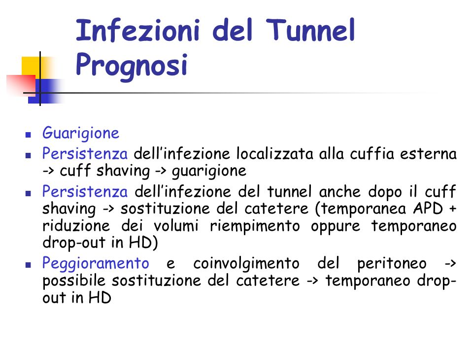 Infezioni del Tunnel Prognosi