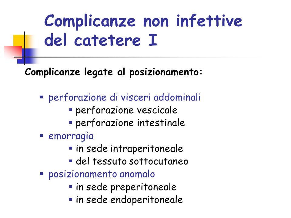 Complicanze non infettive del catetere I