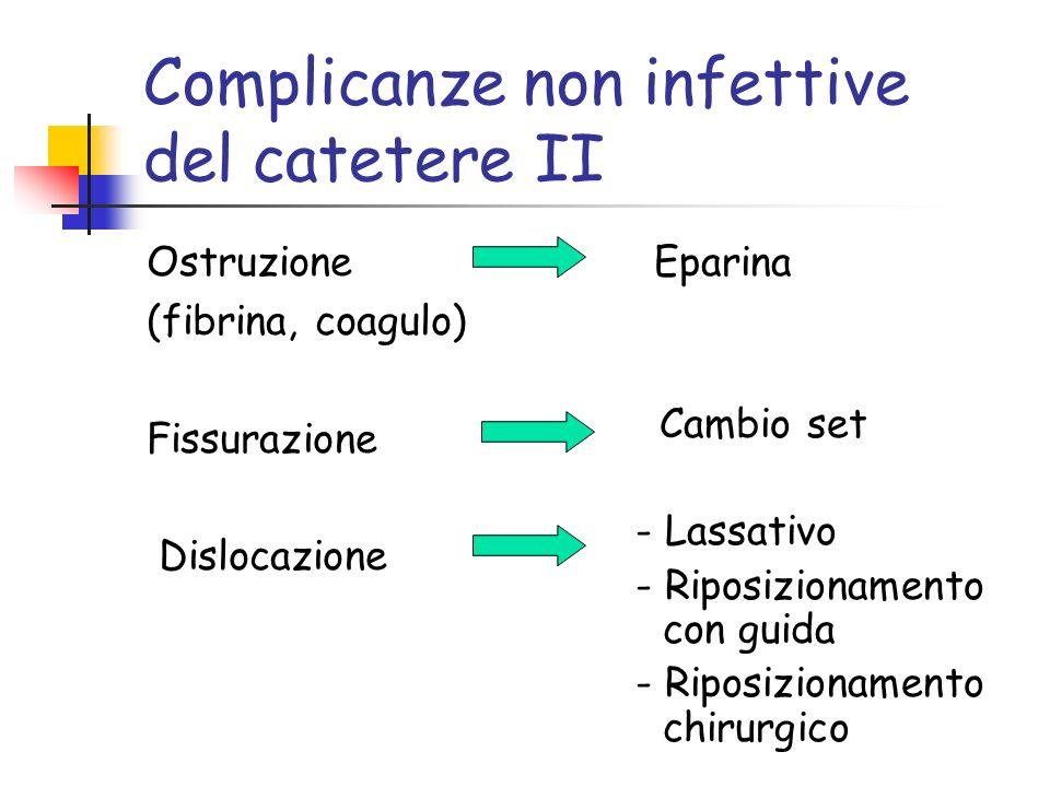 Complicanze non infettive del catetere II