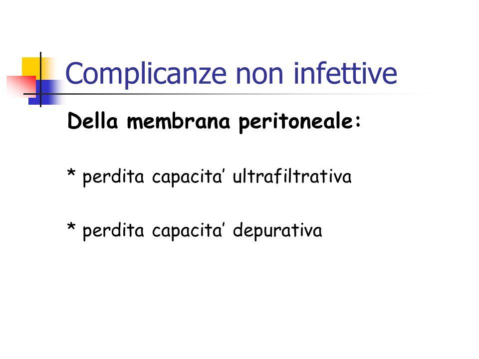 Complicanze non infettive