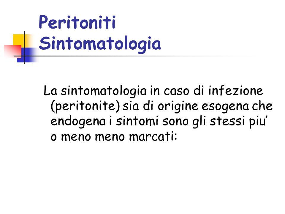 Peritoniti Sintomatologia