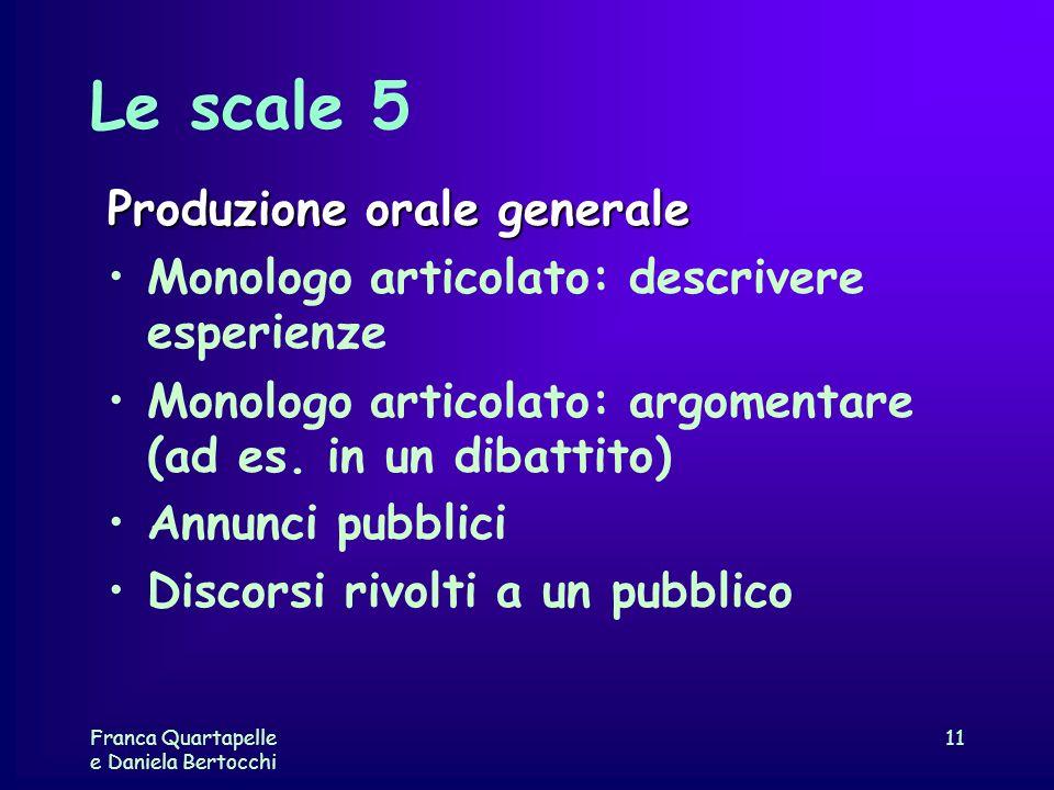 Le scale 5 Produzione orale generale