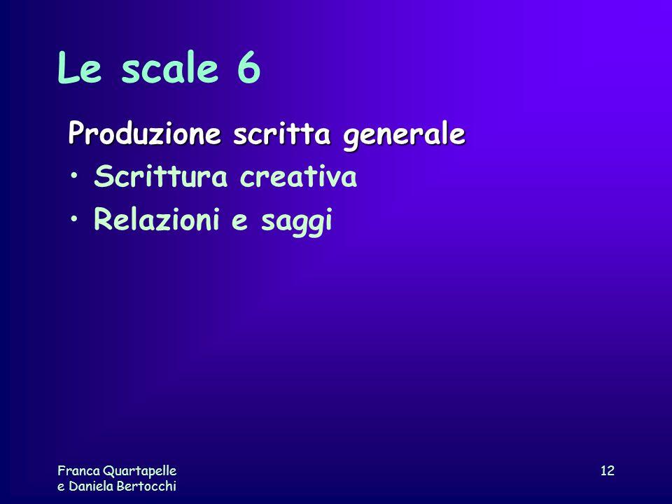 Le scale 6 Produzione scritta generale Scrittura creativa