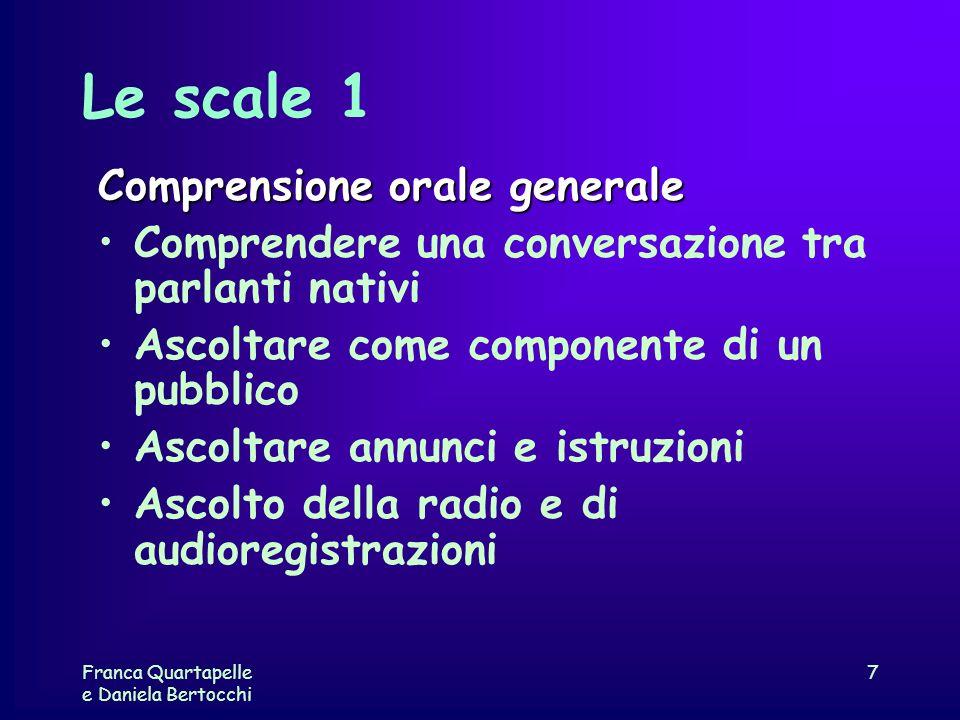 Le scale 1 Comprensione orale generale