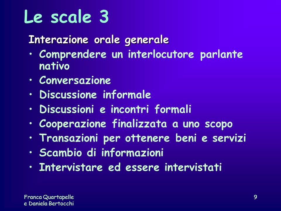 Le scale 3 Interazione orale generale