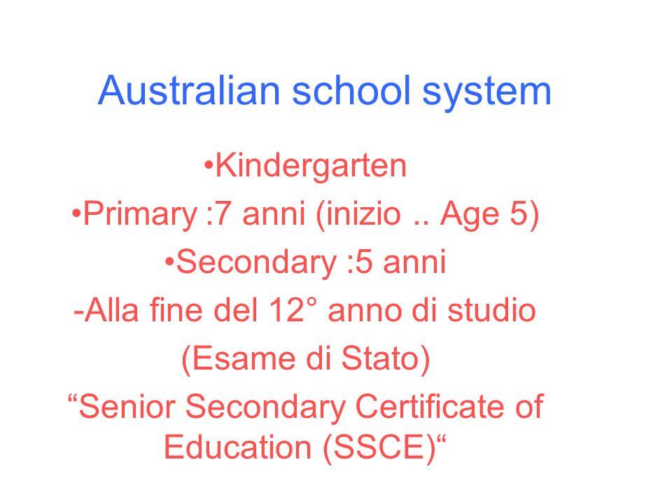 Australian school system
