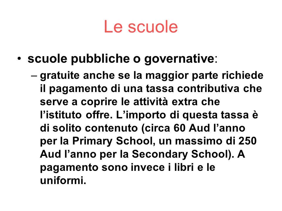 Le scuole scuole pubbliche o governative: