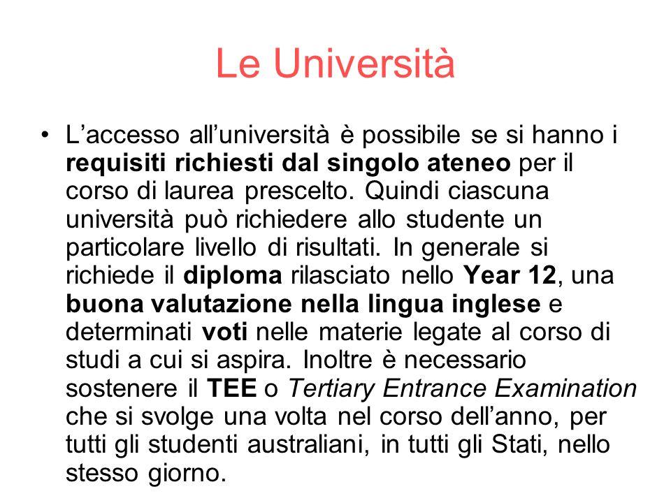 Le Università
