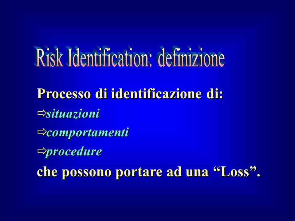 Risk Identification: definizione