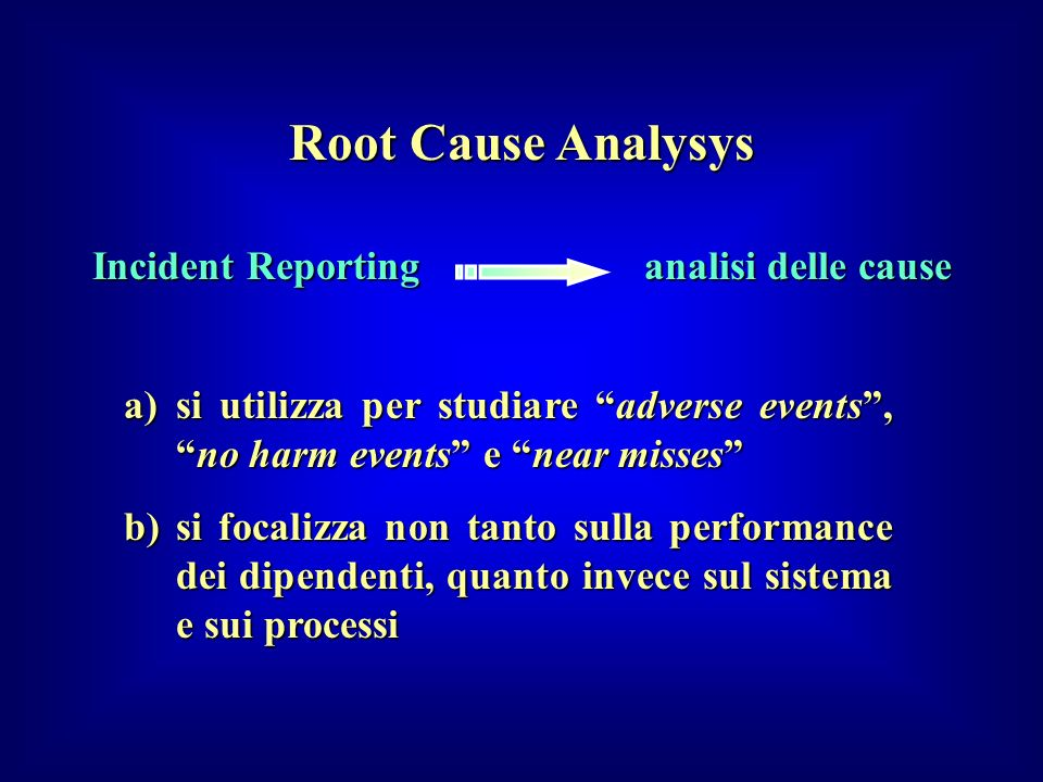 Incident Reporting analisi delle cause