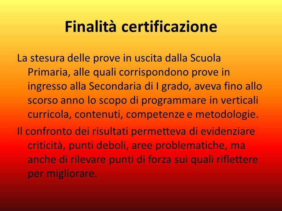 Finalità certificazione