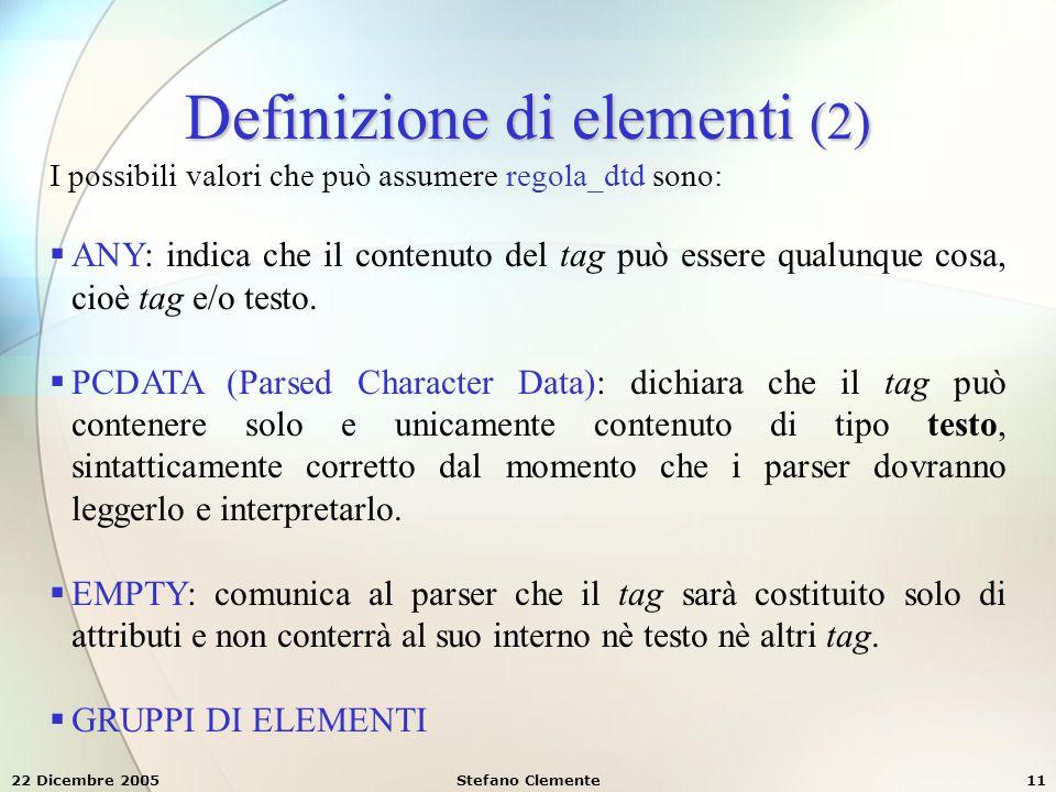Definizione di elementi (2)