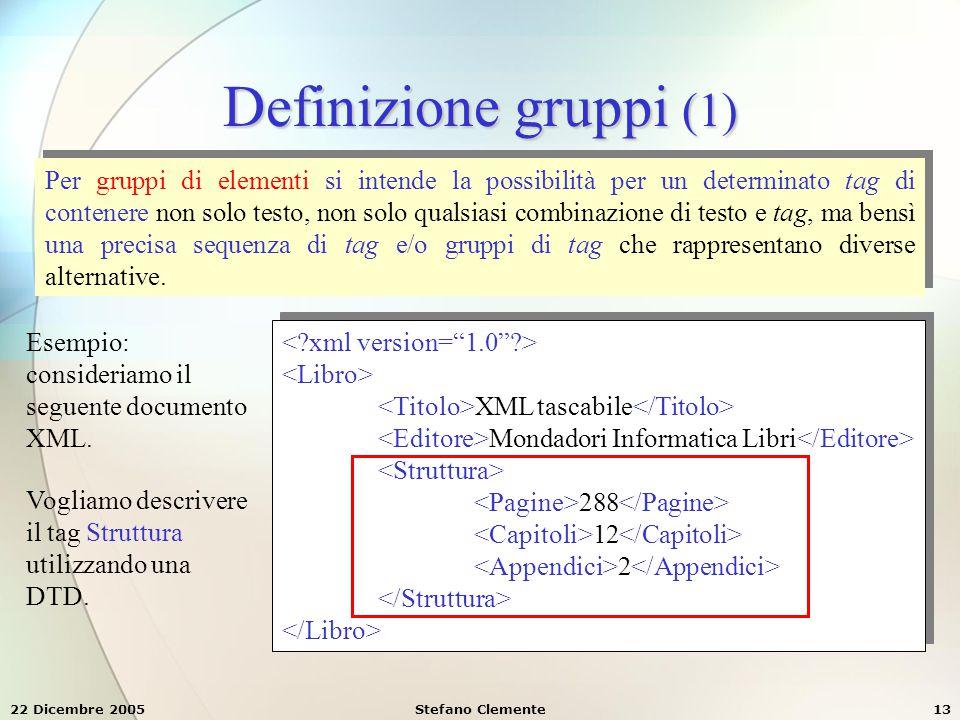 Definizione gruppi (1)