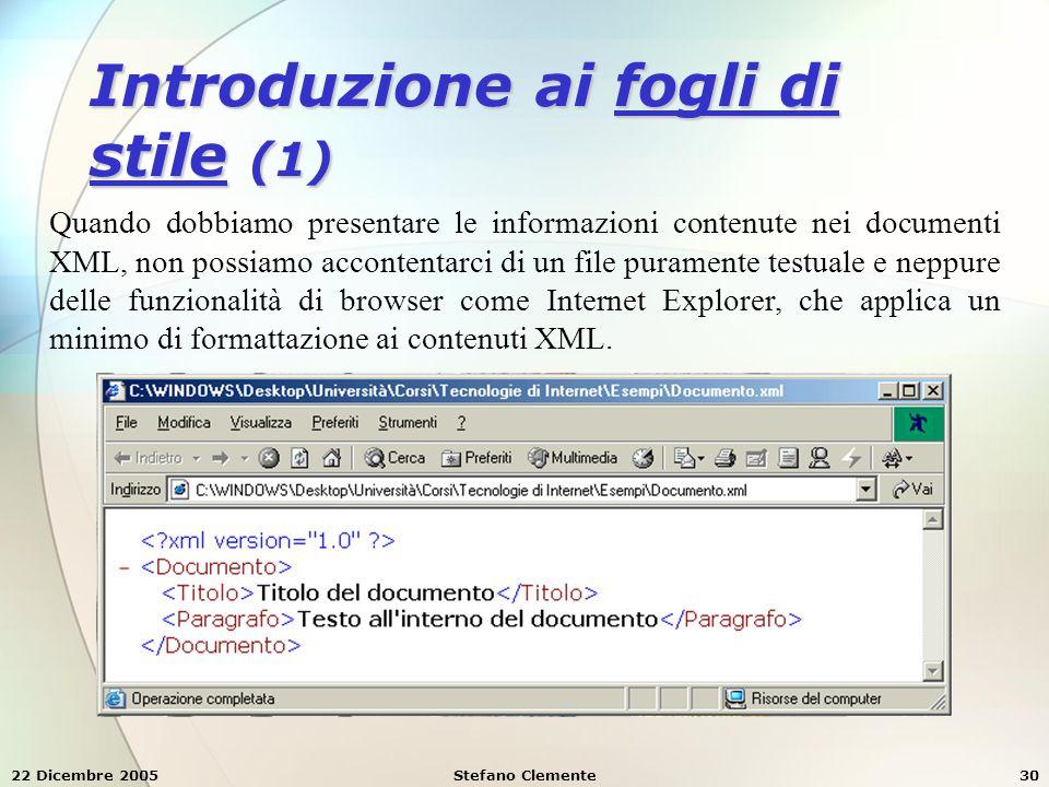 Introduzione ai fogli di stile (1)