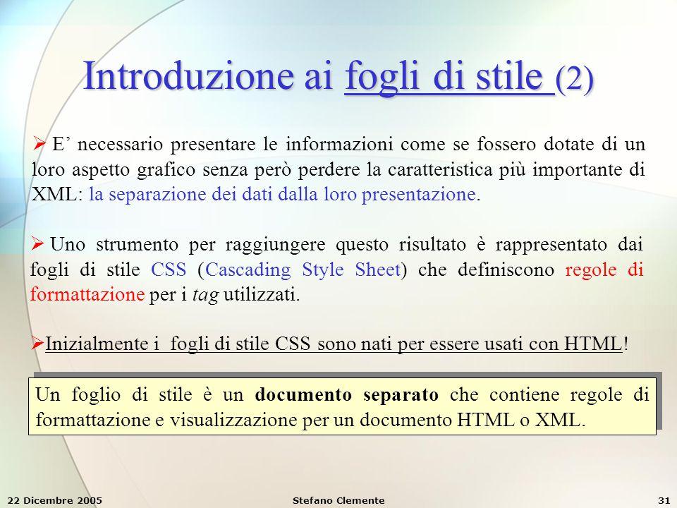 Introduzione ai fogli di stile (2)